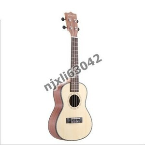 U1140:Spruce Sapele ウクレレ ローズウッド フレットボード 4弦 楽器 元旦 ギフト プレゼント