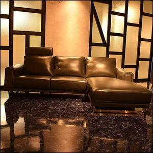 【送料無料(一部除)新品未使用】L115TB1 最高級イタリアンレザー大型カウチソファ■本革3人掛け寝椅子(検 展示品アウトレット展示処分品