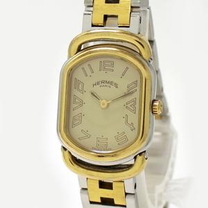 エルメス ラリー レディース腕時計 クオーツ ゴールド文字盤 RA1.220