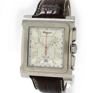サルヴァトーレ フェラガモ パラージオ クロノグラフ SS クオーツ メンズ腕時計 F58C