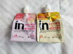 inゼリー フルーツ食感 もも マンゴー味 計12個 森永製菓 ゼリー飲料