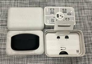 【送料無料】中古美品 ソニー ワイヤレスノイズキャンセリングイヤホン WF-1000XM4 ブラック