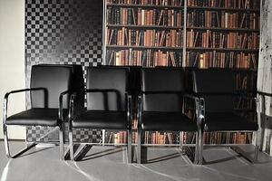 ST11-3Q02-KC=【即決 新品 未使用】モダン カンティレバー ブラック チェア4脚セット食卓椅子ダイニングチェア アウトレット高級展示処分