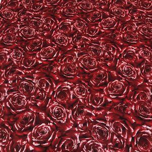 USAコットン Hoffman Fabrics ラメ赤薔薇