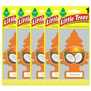 Little Trees リトルツリー エアフレッシュナー リトルツリー ココナッツ Coconut 釣り下げ式芳香剤 USDM 5枚セット