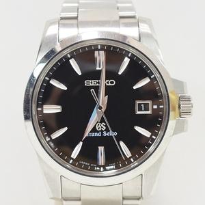 グランドセイコー Grand Seiko SBGX055 9F62-0AA1 GS SS デイト QZ クオーツ 腕時計 黒文字盤 稼働品 箱 ho-1