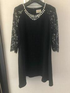 グレースコンチネンタル ビジュー ワンピース ドレス