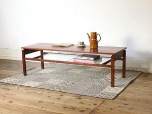【メンテ済・美品】イギリス 1960's ビンテージ コーヒーテーブル/ガラス センターテーブル サイドテーブル アンティーク ERCOL G-PLAN