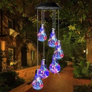 【送料無料】 ソーラーランタン 3 屋外LED ガーデンライト 電球 IP65防水 夜間自動点灯 キャンプ用 ソーラーパネル 飾りライト