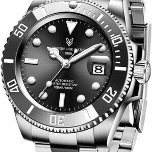 LIGE 防水 男性用腕時計 機械式腕時計 自動巻き腕時計