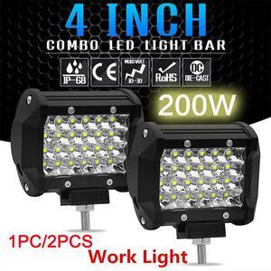 車 汎用 ヘッドライト LED ライト ワークランプ バー スポット 2個 オフロード ドライビング フォグ トラック ボート ATV 外装 カスタム