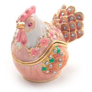 桜 雌鶏☆ジュエリーボックス アクセサリーケース  リングケース にわとり めんどり サクラ はなことり 鳥