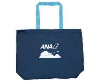 エコバッグ 鞄 バッグ  紺色 P 飛行機 青 青色 ANAキャリーオンバッグ  トートバッグ エコバッグ