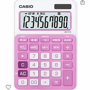 CASIO 電卓 ピンク