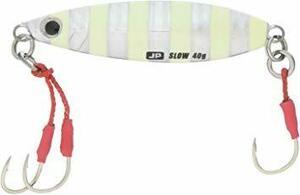 #07 : ゼブラグロー 40g メジャークラフト ルアー メタルジグ ジグパラ スロー ライト ショアジギング用