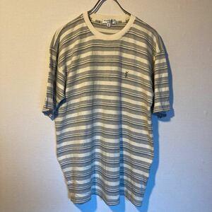 イブサンローラン YSL イブサン tシャツ 半袖Tシャツ ボーダーTシャツ