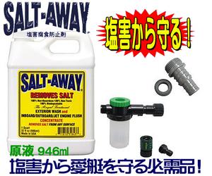 ■■塩害腐食防止SALTAWAYエンジンフラッシングパッケージ2010~ ジェット マリン 水上バイク ジェットスキー ソルトアウェイ●ソルト3