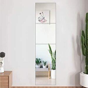 22*22 Winhi 壁掛け鏡 貼る鏡 全身ミラー 全身鏡 玄関鏡 姿見 鏡 試着鏡 洗面? 壁? トイレ? 玄関ミラー ガラ