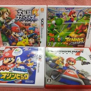 3DSソフト マリオ&ソニック リオオリンピックマリオカート7 マリオテニス 大乱闘スマッシュブラザーズ