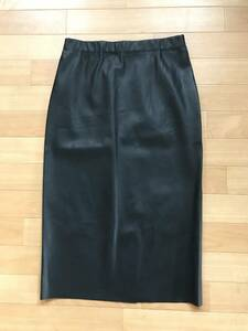 'S Maxmara エス マックスマーラ 正規品 2020秋冬モデル フェイクレザースカート ブラック 美品 size 160/64A
