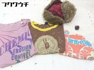 ◇ 《 DIESEL ディーゼル まとめ売り4点セット サイズMのみ Tシャツ カットソー 帽子 レディース 》 1104220005537