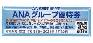 ANAグループ優待券 お買物10%割引券 ANA FESTA、ANA DUTY FREE SHOP 2021年11月30日まで有効