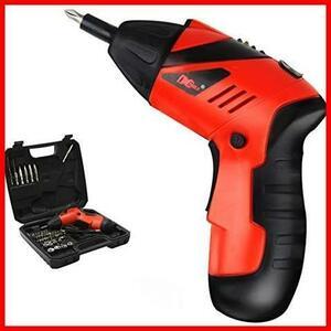 ◆残り1個◆XINGEJU 電動ドライバー ドライバーセット 電動ドリル 充電式 正逆転可能 コードレス 照明機能 充電式 小型 軽量 43本ビット