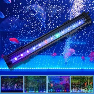 LED水槽ライト 気泡ライト アクアリウムライト 水中ライト 熱帯魚ライト 潜水灯 7色LED 水族館水槽用照明 装飾 酸素補