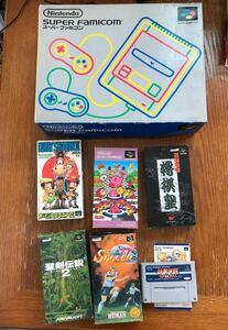 スーパーファミコン本体 + ソフト6本