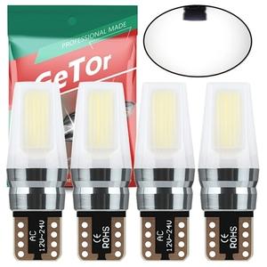 T10 LED ホワイト 爆光 t10 led ボジションランプ t10 ledキャンセラー ホワイト無極性 360°全面発光 (T10 4個 白 9~30V) 4個セット