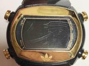 844-0212 adidas アディダス デジタル ADH1572 腕時計 ラバーベルト 黒 電池切れ 動作未確認 ジャンク