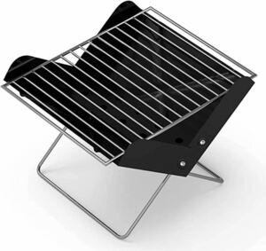 バーベキューコンロ 焚き火台 キャンプ用品 BBQコンロ アウトドア用 折りたたみ式 携帯便利 1台2役 4点セット