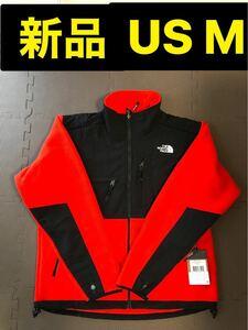 海外限定 新品 ノースフェイス メンズデナリジャケット M 赤 黒 フリース  THE NORTH FACE フリースジャケット