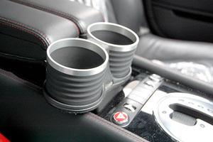 ベントレー コンチネンタル GT/GTC/フライングスパー/GTスピード ドリンクホルダー ブラック/リング/シルバー 簡単装着 ALCABO