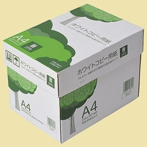未使用 新品 高白色 APP K-IQ 2500枚(500枚×5冊) PEFC認証 ホワイトコピ-用紙 A4 白色度93% 紙厚0.09mm