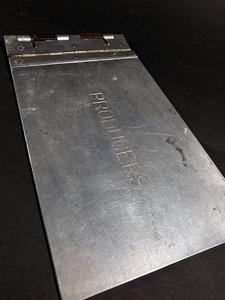 1940's ビンテージ【MINI】アルミ バインダー/工業系/ファイル/o.c.white/gras/店舗什器/デスク/椅子/アンティーク/照明/ランプ/事務/レジ