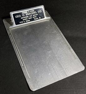 1940's アンティーク アルミ バインダー/USA/工業系/o.c.white/gras/店舗什器/デスク/椅子/ビンテージ/照明/ランプ/クリップ/文具/テーブル
