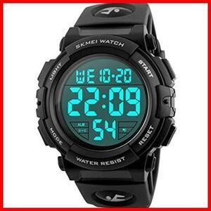 2F 新品 新品Timever(タイムエバー)デジタル腕時計 スポーツウォッチ 防水腕時計 watch アラーム 迅速対応 メンズ led 新品 新品 1T