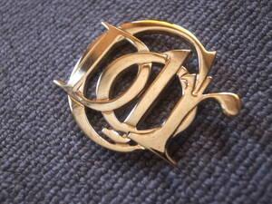 クリスチャン ディオール ★ Christian Dior ★ ロゴ ブローチ ゴールド ヴィンテージ アクセサリー