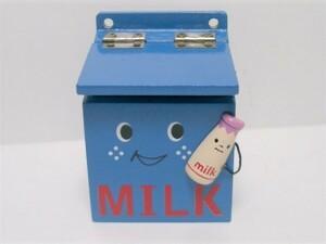 現状品◆木製 牛乳受け箱インテリア小物入れ(小)