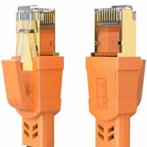 CAT8 LANケーブル 4.5M フラット カテゴリー8 インターネット 40Gbps 2000MHz 超高速