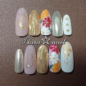 ネイルチップ 和柄×ピンク♪成人式や和装にぴったり! ジェルネイル 付け爪 ネイルアート ショート丈