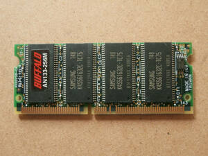 BUFFALO AN133-256M SO-DIMM PC133 CL3 144Pin 256MB SAMSUNG chip Note for memory