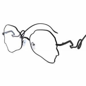 おしゃれ メガネ 変形 フレーム 個性的 サングラス 眼鏡 ブラック UV