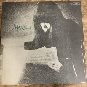 G61[LP]浅川マキ - Maki II レコード Jazz ジャズ Blues ブルース 和モノ ETP-8117