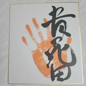 送料無料! 大相撲 第65代横綱 貴花田 力士 サイン手形 色紙 貴ノ花 貴乃花