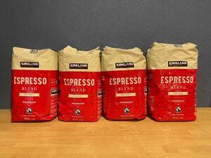 Kirklandカークランドシグネチャー スターバックス エスプレッソブレンド コーヒー(豆)1.13kg 4袋セット