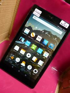 ジャンク タブレット Amazon Kindle Fire HD8 sxd34qt wifi 8型 黒 初期化済み 8-3233