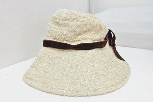 W*アシーナニューヨーク Athena New York ウール ハット 帽子 ツイード クリーム系 kz4202174593