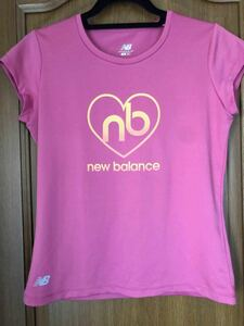 New Balance スポーツTシャツ トレーニング フィットネス Mサイズ ピンク フレンチスリーブ トップス ニューバランス
